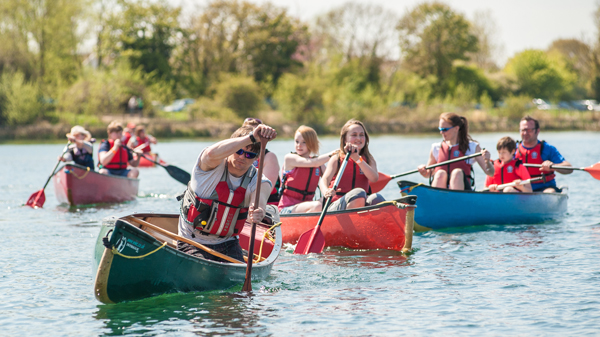 Canoeing at South Cerney Outdoor