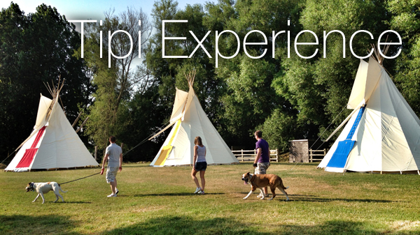Tipi camping Cotswolds