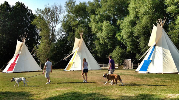 Outside your tipi