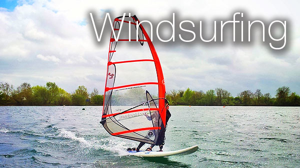 Windsurfing in the Cotswolds